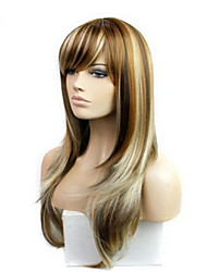 The New COS Anime Wig Arown Dyed Polyester Mixed Color Long Straight Hair Wig