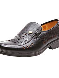 Aokang® Men's Super Breathable Leather Sandals(black)
