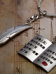 A Pair You Fly Pen Writing A Love Letter Couple Keychain I Compose Creative Life Couple Key Chain