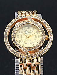 Woman's  High-grade Quartz Diamond Steel Strip Watch