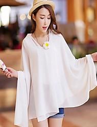 Echarpe plage de style mousseline serviettes dames foulards en mousseline de soie mode d'été châles couleur aléatoire