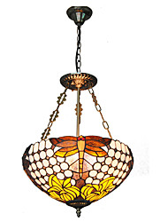 16inch Retro Tiffany Pendant Lights Glass Shade Living Room Dining Room light Fixture