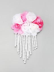 Mulheres Menina das Flores Renda Liga Imitação de Pérola Capacete-Casamento Ocasião Especial Clip para o Cabelo 1 Peça