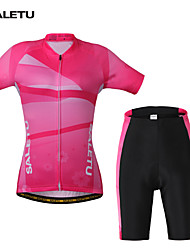 Bike/Cycling Arm Warmers / Jersey / Jersey + Shorts / Clothing Sets/Suits Women's Short SleeveBreathable / Quick Dry / 4D Pad /