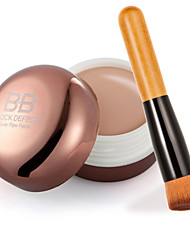Contour Face Cream Makeup Concealer+ Wooden Handle Brush