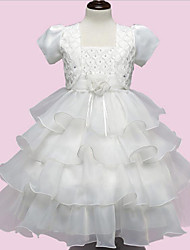 Girl's White Dress / Clothing Set Rayon Summer