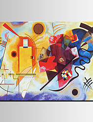 Hand-Painted Abstract / Famous / Modern Oil Painting , Canvas One Panel