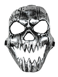 Terror Grimace Canine Skull Mask Silvery Black Halloween/Christmas/New Year