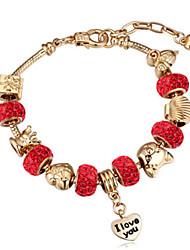 Bracelet- enAlliage / Strass-Vintage / Mignon / Soirée / Travail / Décontracté-Lien / Chaîne