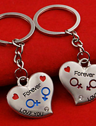 A Pair Fashion One Pair Lover Key Chain Romatic Love Heart Couple Keychain Best Gift for Boyfriend or Girlfriend