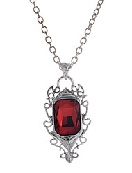 Women's Pendant Necklaces Pendants Ruby Gemstone Gem Alloy Fashion Luxury Jewelry Silver Jewelry Wedding Party Daily Casual Sports 1pc