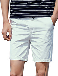 Men's Summer Fashion Solid Cotton Washed Beach Casual Short 9 Colors/Plus Size/Daily