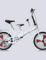 Bicicleta Dobrável Ciclismo 3 velocidade 20 polegadas Unissex Adulto Freio a Disco Duplo Garfo com Suspensão a Mola Manocoque ComumAço
