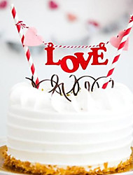 Alphabet LOVE Birthday Cake Bunting Banner Kit DIY Birthday Cake Topper Decoration