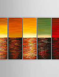 Oil Painting Abstract  Set of 5  Hand Painted Canvas with Stretched Framed Ready to Hang