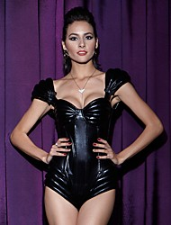 YUIYE® New Ladies Sexy Underwear Faux Leather Jumpsuit Catsuit Teddies Gothic Fetish Clubwear Lingerie Corset Bustier