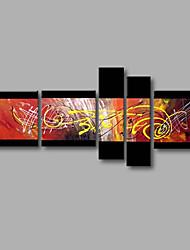 "gestreckt (fertig zum Aufhängen) bemalt Hand Ölgemälde 64 ""x40"" Leinwand Wandkunst moderne abstrakte gelb schwarz"