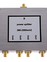 4-Way SMA Power Divider Mobile Phone Signal Booster Splitter 380-2500MHz