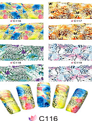 1pcs  Nail Art Water Transfer Stickers Beautiful Abstractive Image Fashion Leopard Image C116-123