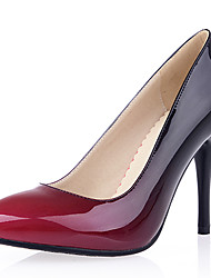 Women's Shoes Stiletto Heel Patent Leather/Pointed Toe Heels Party & Evening/Dress Black/gradient Yellow/Red/Almond