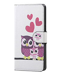 Sweet Owl Family Magnetic PU Leather wallet Flip Stand Case cover for Huawei Ascend P9