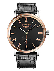 GUANQIN® Men Automatic Self-winding Waterproof Sapphire Crystal Steel and Leather Band 38.5mm Business Wrist Watch Cool Watch With Watch Box