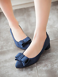 Women's Shoes  Chunky Heel Heels / Pointed Toe Heels Party & Evening / Dress / Casual Black / Blue / Pink / Gray