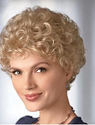 moda perucas sintéticas cor loira estilo encaracolado perucas sintéticas