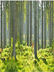 """(9'8 """"x 8'2""""ft)Pine Trees Forest Trees Welcoming Backdrop Seamless Forest  3d Large Wall Mural Wallpaper"""