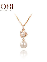 ROXI Rose Gold Pearl Pendant Necklace Jewelry