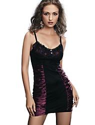 Damen Dessous / Besonders sexy / Uniformen & Cheongsams / Babydoll & slips / Hemden & Kleider Nachtwäsche,Retro / Sexy / Push-Up / Spitze