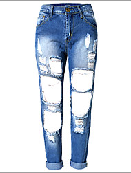 Shaperdiva Women's Distressed Skinny Jeans