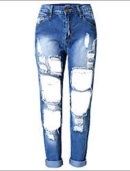 Shaperdiva Women's Distressed Skinny Jeans