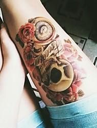 -Tattoo Aufkleber-Waterproof-Andere- fürDamen / Herren / Erwachsener-Mehrfarbig-PVC-1pcsStück -19x12cm-Skull