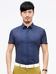 China famous Seven brand 2016 new design Men's Short Sleeve Shirt,Cotton Casual / Work Polka Dot shirt man summer