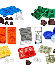 8pcs/set Ice Tray Silicone Mold Ice Cube Ice Cream Makers Chocolate Fondant Mould