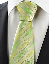 New Green Ripple Wave Pattern Men's Tie Necktie Wedding Party Holiday Gift KT0082