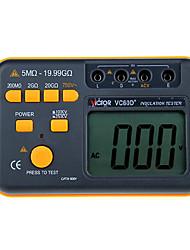 victor vc60d + jaune pour la résistance d'isolement mégohmmètre