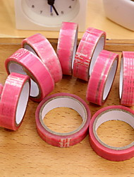 Pink Lace Pattern Decorative Tape Set(10 PCS)