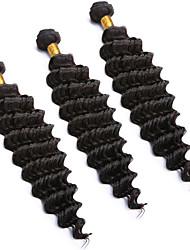 peruanska djup våg virgin hår 150g humana förlängnings 3st djup lockigt jungfruligt hår