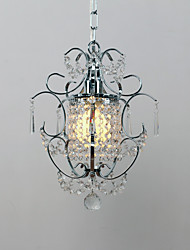 60W Modern Contemporary Crystal  Mini Style Electroplated Metal Chandeliers Living Room   Bedroom  Dining Room