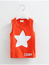 Baby Tops Children Vest Boys Summer T Shirts Girls Tank 2016 Fashion Star Printed Toddler Tees T-Shirt Clothing