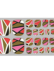 Lovely Toenails Sticker Bronzing Pink 3D Nail Stickers