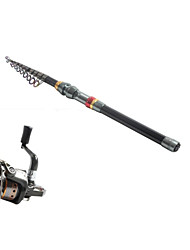 Telespin Rod / Fishing Rod + Reel / Fishing Rod Telespin Rod Carbon 360 M Sea Fishing Rod & Reel Combos Black