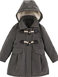 Girl's Gray Jacket & Coat Cotton Winter