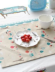 "4pcs Placemats Pack Cotton Fabric Washable Fashion Pattern 11.8"" by 12.6"""