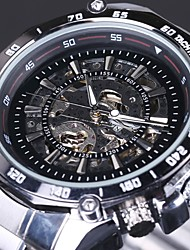 Men's Skeleton Auto Mechanical Stainless Steel Band Wrist Watch Cool Watch Unique Watch Fashion Watch