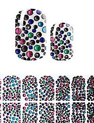 симпатичный черный корея поделки алмазов наклейки 3d ногтей