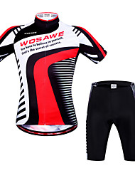 Wosawe® Cycling Jersey with Shorts Unisex Short Sleeve BikeBreathable / Quick Dry / Anatomic Design / Front Zipper / 3D Pad / Back Pocket