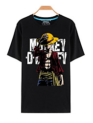 Inspired by One Piece Monkey D. Luffy Anime Cosplay Costumes Cosplay T-shirt Print Short Sleeves Top For Unisex